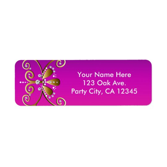 Indian Princess Birthday Party Address Labels