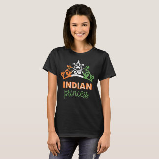 Indian Princess Tiara National Flag T-Shirt