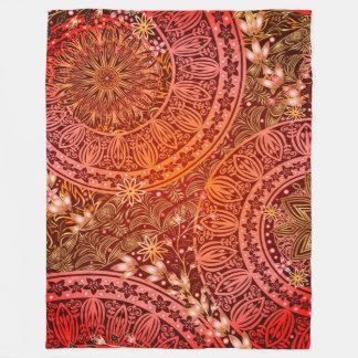 Indian Print Fleece Blanket