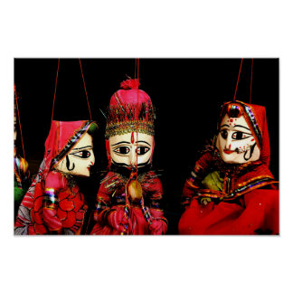 Indian Puppets Poster