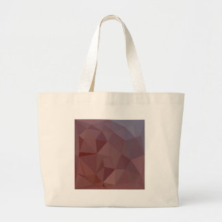 Indian Red Abstract Low Polygon Background Large Tote Bag