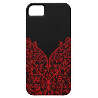 Indian Red Black Motif Design Lace Vintage Pattern iPhone 5 Cases
