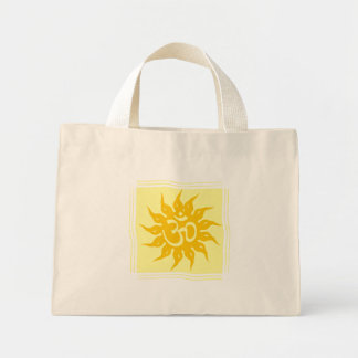 Indian Religious Symbol : Om and Surya Canvas Bags