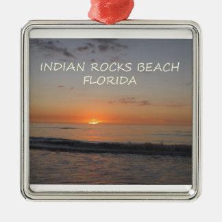 Indian Rocks Beach Florida Sunset Metal Ornament