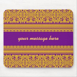 Indian Sari Design - Purple Mousepad
