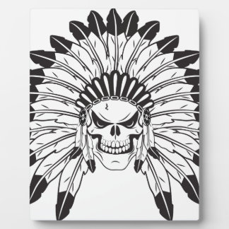Indian Skull Chief Photo Plaques