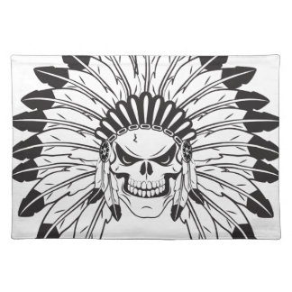 Indian Skull Chief Place Mat