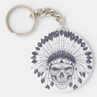 Indian Skull Key Ring