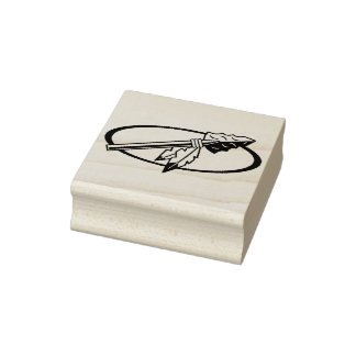 indian spear rubber stamp