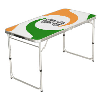 Indian spiral flag beer pong table