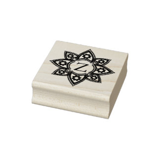 Indian Star Design Rubber Art Stamp