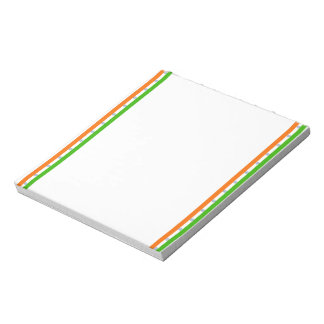Indian stripes flag notepad