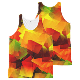 Indian Summer Cubes All-Over Print Singlet
