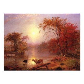 Indian Summer Hudson River by Bierstadt Photograph