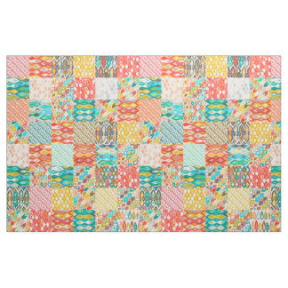 Indian Summer ikat patches Fabric