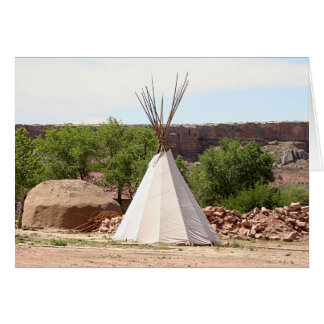 Indian teepee, pioneer village, Utah Card