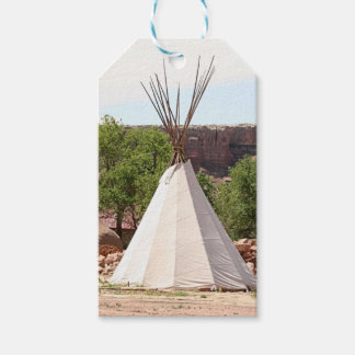 Indian teepee, pioneer village, Utah Gift Tags