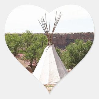 Indian teepee, pioneer village, Utah Heart Sticker