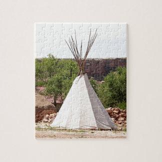 Indian teepee, pioneer village, Utah Jigsaw Puzzle