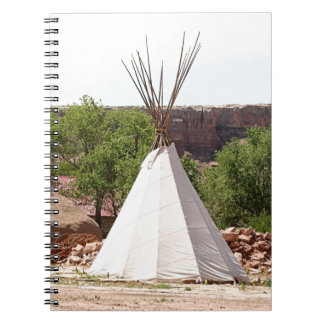 Indian teepee, pioneer village, Utah Notebooks