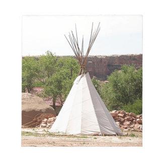 Indian teepee, pioneer village, Utah Notepad