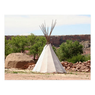 Indian teepee, pioneer village, Utah Postcard