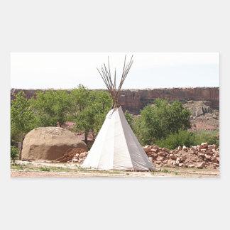 Indian teepee, pioneer village, Utah Rectangular Sticker