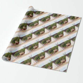 Indian teepee, pioneer village, Utah Wrapping Paper