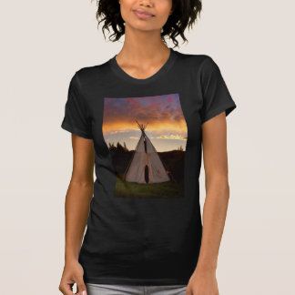 Indian Teepee Sunset vertical image T-Shirt