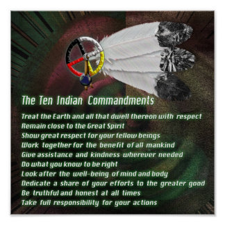 Indian Ten Commandments Poster