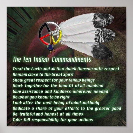 Indian Ten Commandments Poster