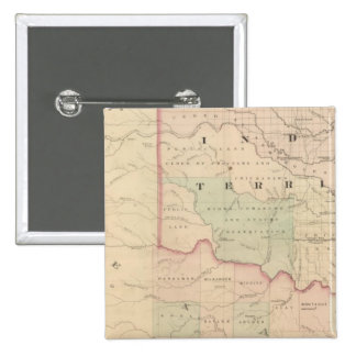 Indian Territory and Texas North West Portion Pinback Buttons