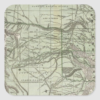 Indian Territory Northern Texas and New Mexico Square Stickers