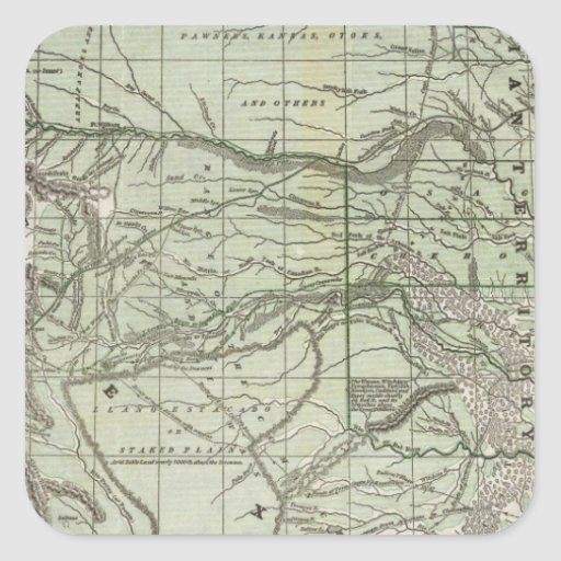 Indian Territory, Northern Texas and New Mexico Square Stickers