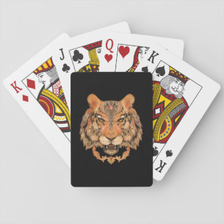 Indian Tiger Tattoo Playing Cards