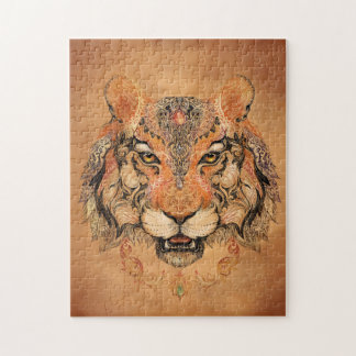 Indian Tiger Tattoo Puzzle