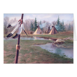 INDIAN TIPI CAMP by SHARON SHARPE Card