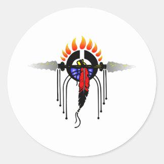 Indian Totem Classic Round Sticker