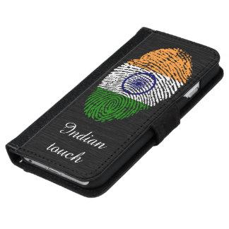 Indian touch fingerprint flag iPhone 6 wallet case