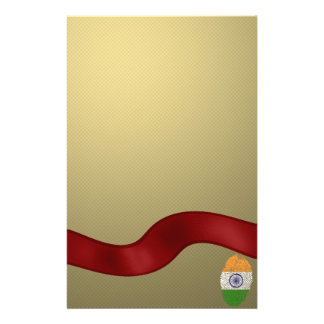 Indian touch fingerprint flag personalised stationery