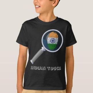 Indian touch fingerprint flag T-Shirt