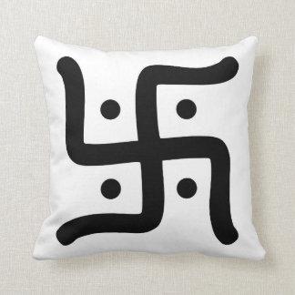 indian traditional hindu swastika symbol religion cushion