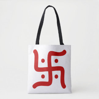indian traditional hindu swastika symbol religion tote bag