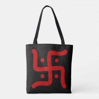 indian traditional hindu swastika symbol religion tote bag