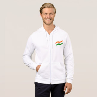 Indian undulating flag hoodie