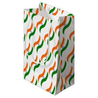 Indian undulating flag small gift bag