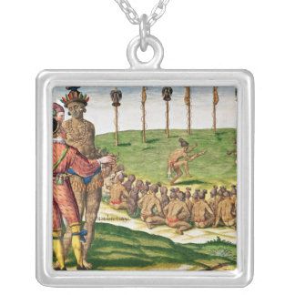 Indian Victory Ceremony, from 'Brevis Silver Plated Necklace