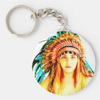 Indian warrior key ring