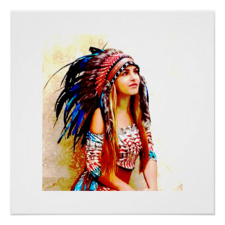 Indian warrior vibrant colours