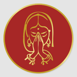 Indian Welcome Gesture - Namste Stickers